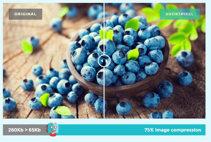 shortpixel image compression performance