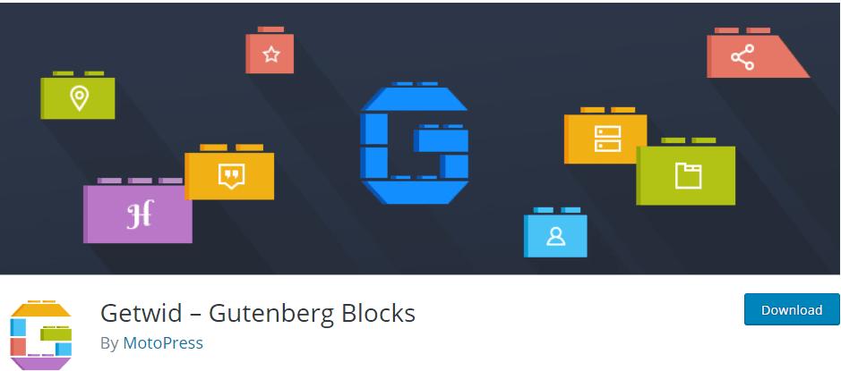 Getwid-gutenberg blocks