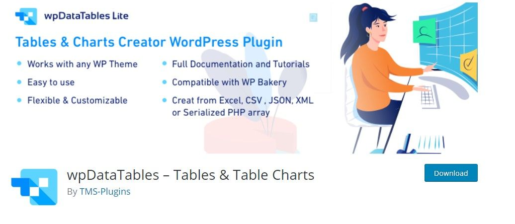 WP datatable plugin