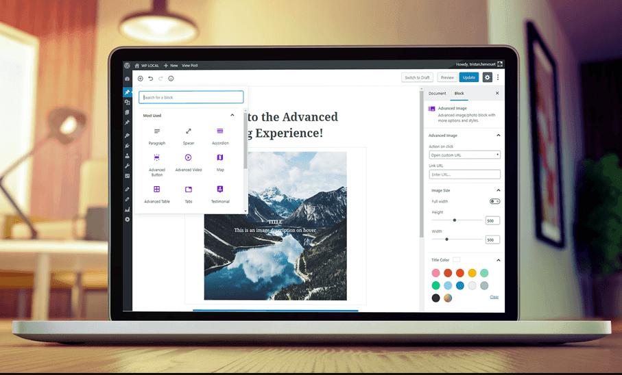 Advanced gutenberg plugin features