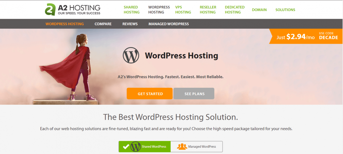 A2 wordpress hosting review