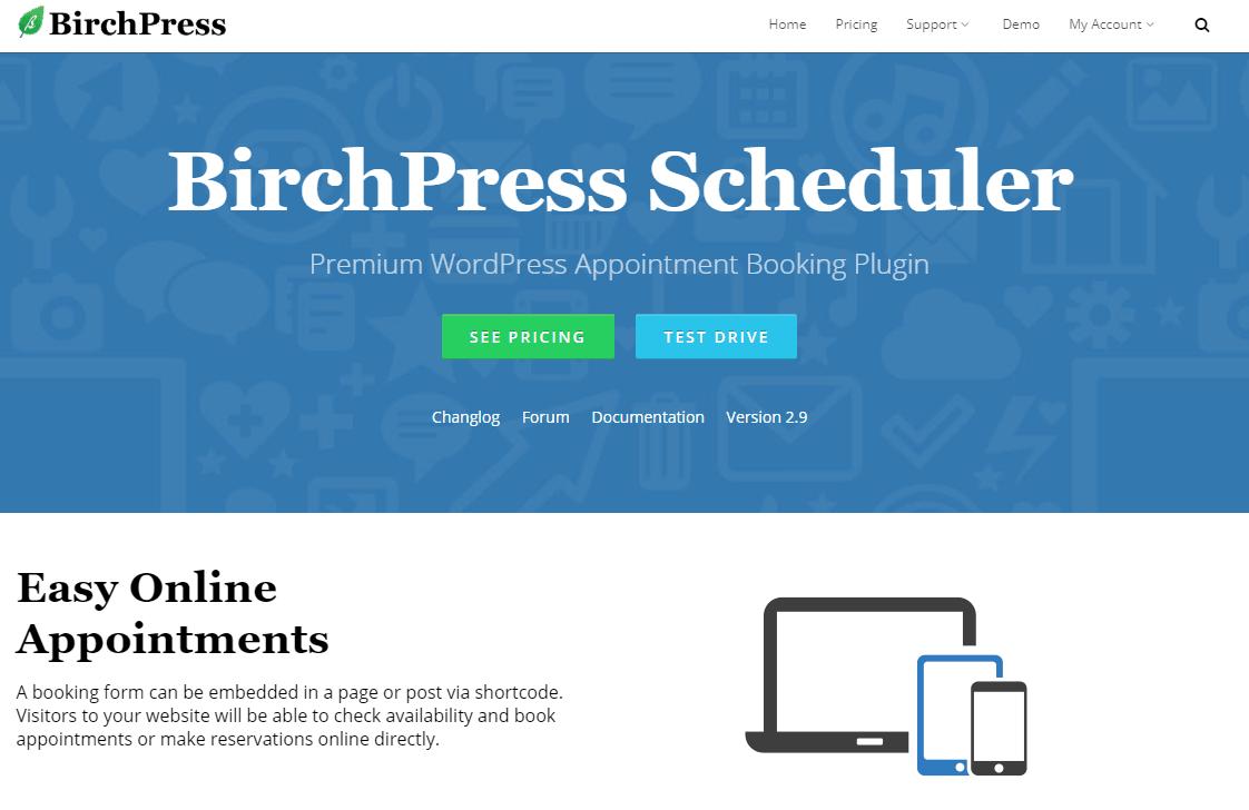 BirchPress Booking plugin
