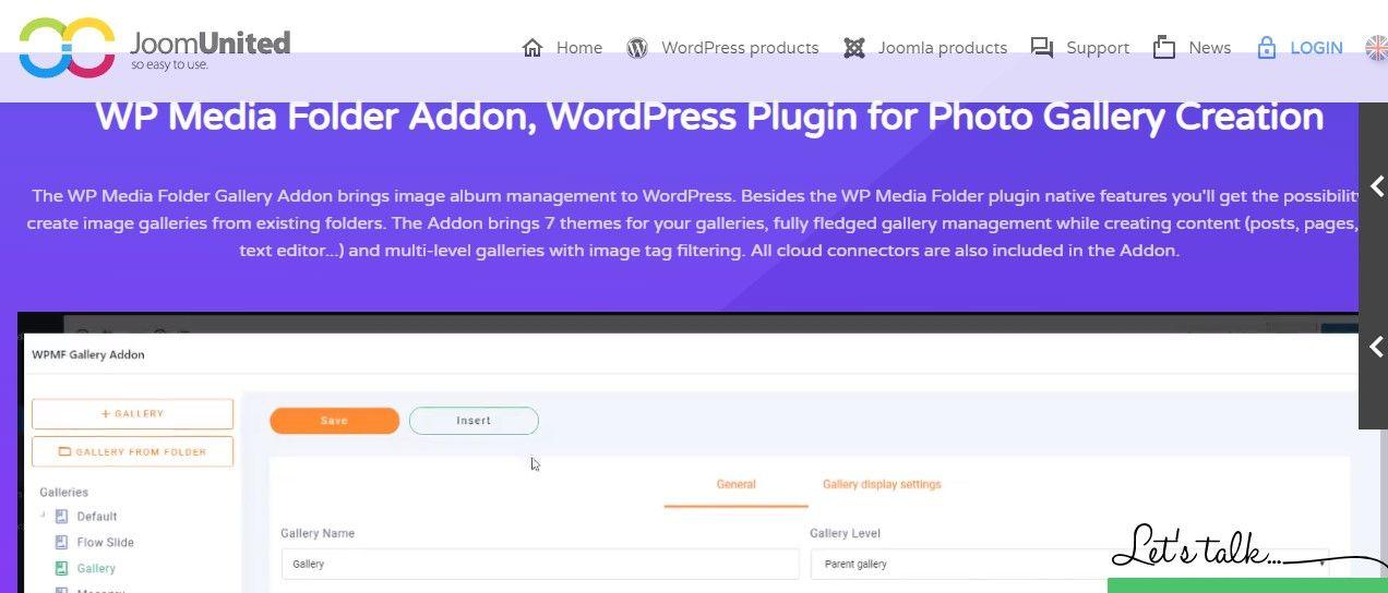 WP Media Folder Gallery Add-on, WordPress plugin