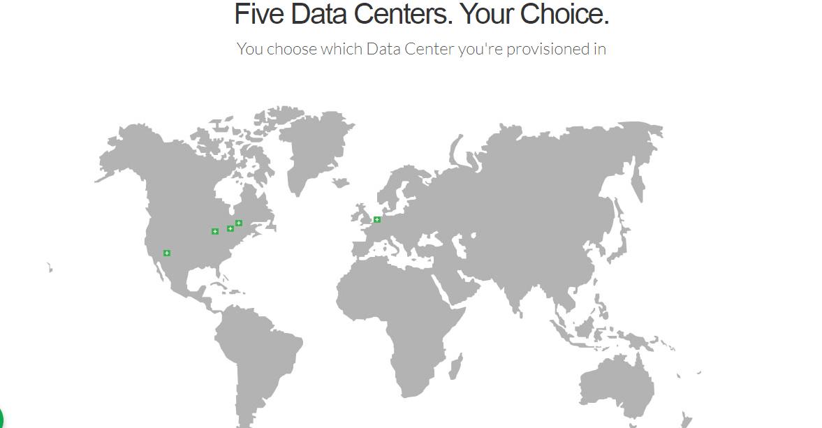 Multiple server locations
