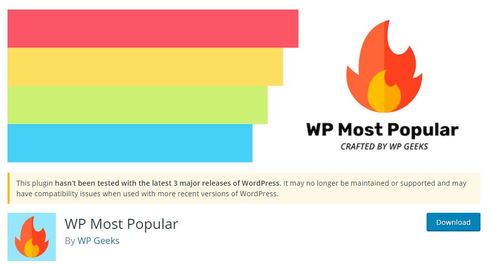 WP most popular Plugin