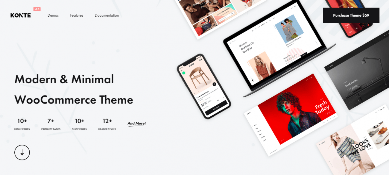 Konte wordpress theme