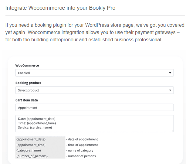 WooCommerce Compatibility With Bookly pro