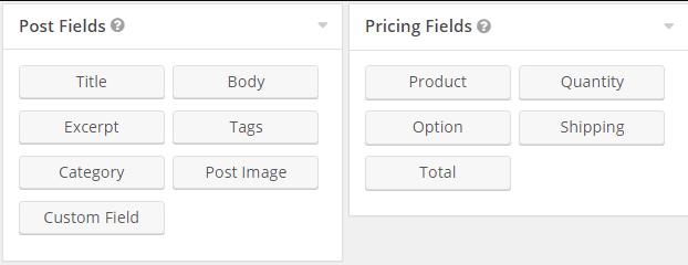 post fields