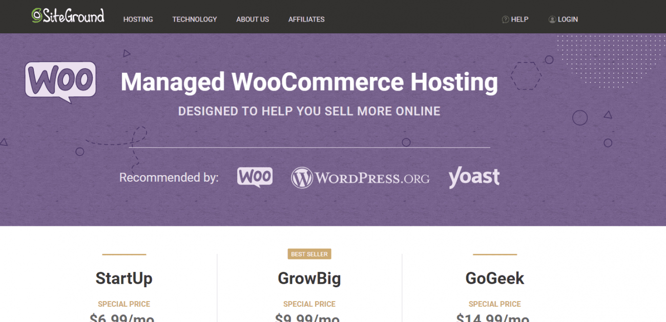 siteground hosting plans prices chart