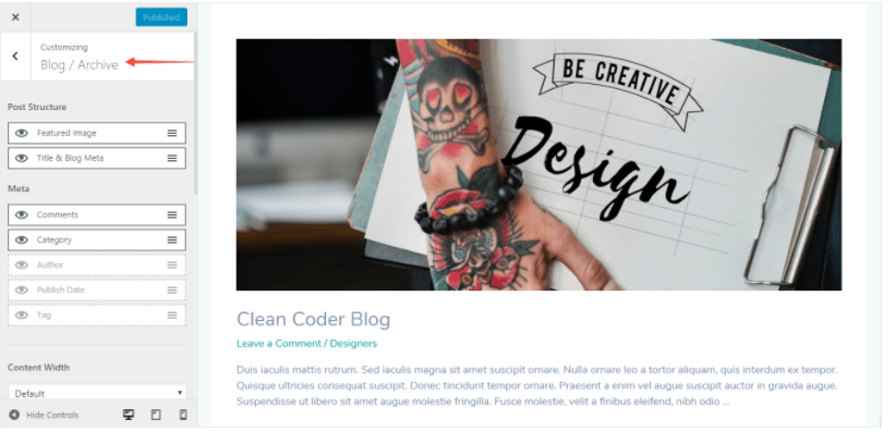 blog archive elements