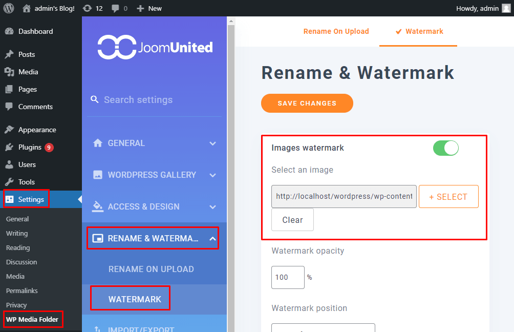 Select A Watermark