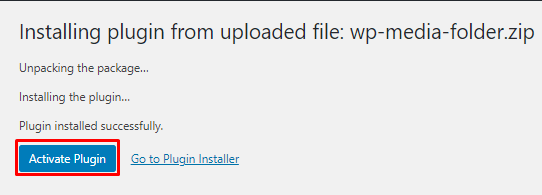 Activate WP Media Folder