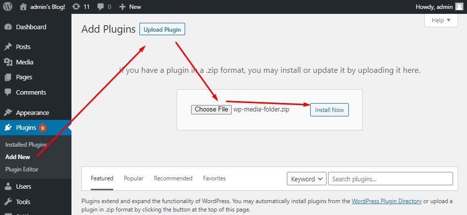 Install WP Media Folder